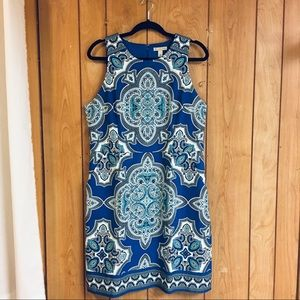Dresses & Skirts - Size 16 blue paisley dress